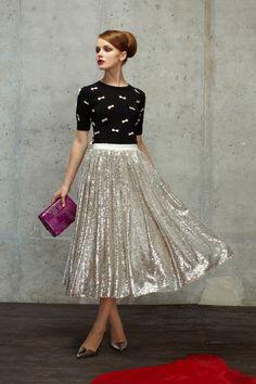 Silver Skirt | Black & Silver Sweater | Pretty Pentecostal | Apostolic Fashion | Modest is Hotest