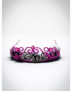 Bride Marabou Tiara. Wear a tiara, and a sash that says bachelorette. then do pub crawl with girl friends