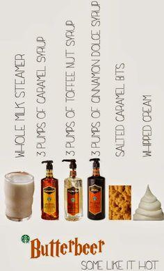 Starbucks Secret Menu: Harry Potter Butter Beer