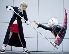 Maka & Soul from Soul Eater Cosplayers: