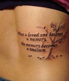 memorial tattoo, in memory tattoo, tree of life, memorial tattoo ideas, in memory of mom, Mother Tattoo #TattooIdeasInMemoryOf