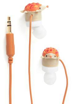 Cute Hedgehog Earbuds http://rstyle.me/n/bz2gur9te
