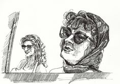 Thelma y Louise. #dibujo hecho a estilógrafo.
