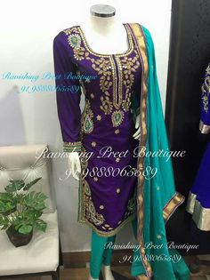 Custom made availaible at Royal Threads Boutique. To order whatsapp at Indian Salwar Suit, Indian Suits, Punjabi Suits, Salwar Suits, Salwar Kameez, Punjabi Girls, Embroidery Suits, Indian Designer Wear, Indian Ethnic