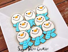 SugarBliss Cookies: SugarBliss Snowmen