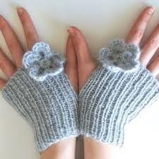 gray blue gloves knit - Google Search