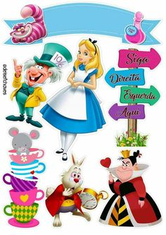 Baby Scrapbook, Scrapbook Stickers, Disney Cake Toppers, Alice In Wonderland Tea Party, Twisted Disney, Disney Princess Party, Diy Gift Box, Boy Birthday Parties, Handmade Baby