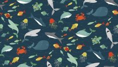 Pirates Fishes by Andover Fabrics Pirate Quilt, Andover Fabrics, Treasure Maps, Fabric Suppliers, Fabulous Fabrics, Fabric Shop, Fabric Crafts, Fabric Design, Shark