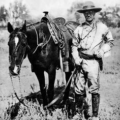 Theodore Roosevelt — governor of New York and president of the United States — was an ardent naturalist and visionary conservationist. Explore more about Theodore Roosevelt and his lifelong association with the Museum. American Presidents, American War, American History, Old West Photos, Presidential History, Theodore Roosevelt, Roosevelt Quotes, Rough Riders, Vintage Horse