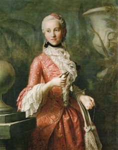 ab. 1755 Pietro Rotari - Portrait of Marie Kunigunde of Saxony, Abbess of Thorn and Essen, daughter of Augustus III of Poland
