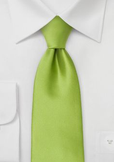 Solid color wedding tie in Pantone's Color of The Year 2017 - Greenery.