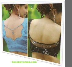 Saree Blouse designs ; Back cuts    saree blouse design