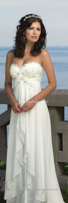 A different look on bodice & nice flirty flowing bottom. Romantic looking.  This is my dress!