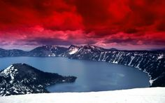 The Nature of Photographs: Scarlet Skies Wallpaper Landscape Nature.