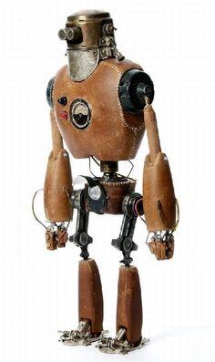 Steampunk robot by Stephane Halleux Robots Steampunk, Pirate Steampunk, Steampunk Kunst, Steampunk Characters, Steampunk Gadgets, Steampunk Dolls, Steampunk Design, Arte Robot, Robot Art