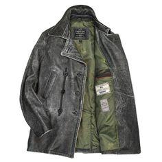 Horsehide USN Leather Bridge Coat