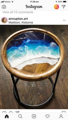 """Sea of Space II"" – Ann Upton Art – resin crafts Epoxy Resin Wood, Epoxy Resin Art, Diy Resin Art, Diy Resin Crafts, Acrylic Resin, Diy Resin Table, Resin Furniture, Painting Furniture, Resin Artwork"
