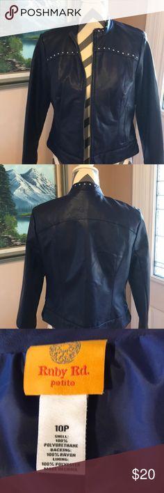 Ruby Rd Jacket Size 10P cute purple faux leather jacket. Ruby Rd. Jackets & Coats