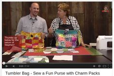 Quilted Tumbler Bag - Sew a Fun Purse with Charm Packs