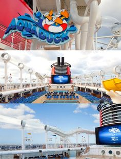 """Let's go 'aquaducking.' :: """"AquaDuck is an exciting 765-foot-long water coaster on the Disney Dream Cruise Ship! Is it time to go yet?"""