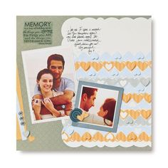 Memory Double Heart Chain #Scrapbook Layout Page Idea from Creative Memories    www.creativememor...