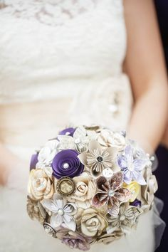 harry potter wedding bouquet made from book pages