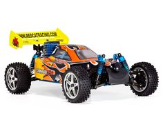 Hang on! The Tornado S30 is about to blow through your neighborhood! Complete with 2.4GHz radio system, the Tornado S30 4WD nitro buggy is ready to run.  A 3.0cc SH-18 nitro engine, precisely tuned aluminum exhaust pipe, and performance header provide the power and precision needed to blow away the competition.