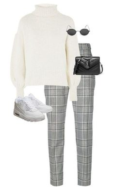 A fashion look from January 2018 featuring high waisted pants, white sneakers and quilted purses. Browse and shop related looks. Work Fashion, Hijab Fashion, Korean Fashion, Fashion Outfits, Womens Fashion, Classy Outfits, Trendy Outfits, Winter Outfits, Mode Ootd