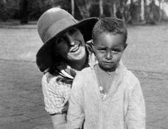Karen Blixen with Farah's son