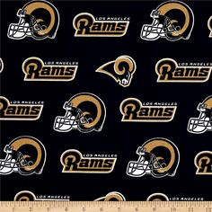 1//2 YARD NFL Los Angeles Rams Football Licensed Retro Fabric 100/% Cotton