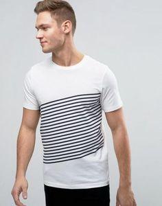 Jack & Jones Core T-Shirt With Diagonal Stripe Print