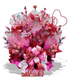 Candy Bouquet....good idea for decoration and give to guests at the end of party!
