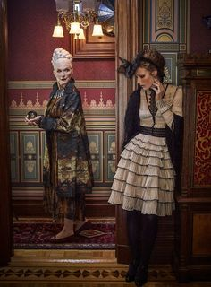 Victorian Gothic casts a fall fashion spell Maye Musk, Older Models, Victorian Gothic, Model Agency, Autumn Fashion, It Cast, Stylists, Punk, Princess Zelda