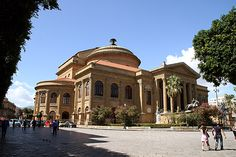 Il Teatro Massimo, Palermo. After centuries of foreign occupation, Sicily enthusiastically joined the Kingdom of Italy in 1860. Finally free of the hated Bourbons, Palermo celebrated its allegiance to the new King Vittorio Emanuele by ordering a theater built in his honor. After thirty years of construction, the Teatro Massimo  opened to great fanfare in 1897. It's the largest opera house in Italy, and the third largest in all Europe.