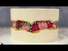 Rosette Fault Line Design Cake Beautiful Cakes, Amazing Cakes, Bolo Fit, Blackberry Cake, Cake Youtube, Cake Cover, Cake Decorating Tips, Cake Tins, Cake Tutorial