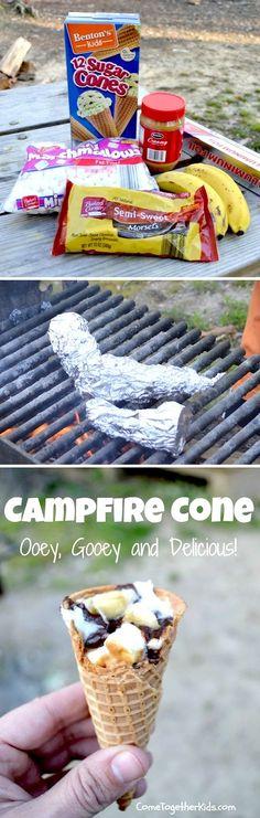 Campfire Cones. I love this idea!