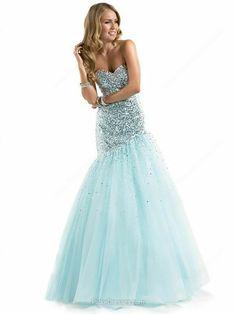 Trumpet/Mermaid Sweetheart Floor-length Tulle Sequins Prom Dresses -CAD$215.89