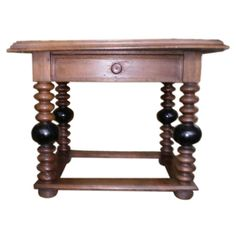 Antique French Louis XIII Style Rustic Walnut Table