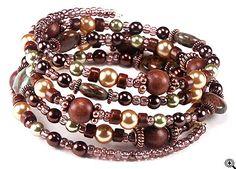 Jewelry Making Idea: Caramel Apple Memory Wire Bracelet (eebeads.com)