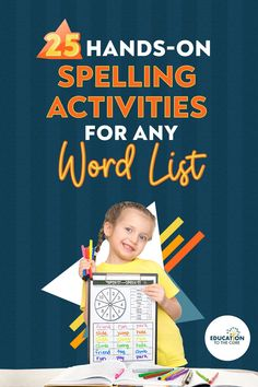 Below you will find 25 Hands-On Spelling Activities that you can use with ANY spelling list. Either 10 words, 12 words, 15, or even 20! The number doesn't matter and the materials needed for most of these activities are found in almost every classroom! Numbers 15, 17, and 19 are my favorite off of this list!! I cannot wait to hear what yours will be... Spelling Lists, Spelling Activities, Vocabulary Activities, Second Grade Teacher, First Grade Classroom, Reading Intervention, Word Work, Student Learning, Mini Books