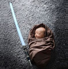 #8 Baby Star Wars Jedi  22+ Geeky Newborns Who Are Following In Their Parents' Nerdy Footsteps