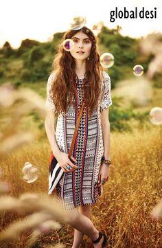 #BeYourOwnSunshine #GlobalDesi #Summer16 #FashionCampaign #Happy #fun #sunshine #bohochic #freespirit #tunic #prints