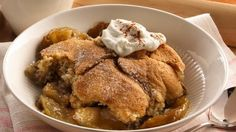 Easy refrigerated sugar cookie dough makes the tender and sweet crust in this updated take on a classic apple cobbler.