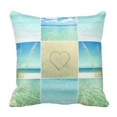 Beach Photo Collage Pillow: http://www.beachblissdesigns.com/2015/09/beach-photo-collage-pillows.html