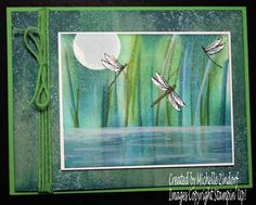 Dragonflies at Play – Stampin' Up! Card created by Michelle Zindorf - Touches of Textures Stamp Set