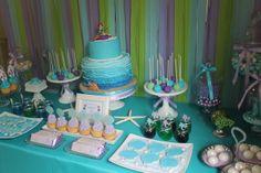 "Photo 1 of 30: The Little Mermaid / Birthday ""Ariel the Little Mermaid Inspired 8th Birthday "" | Catch My Party"