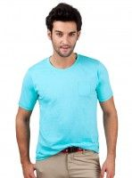 FLAT 50% OFF! Solid Patched Pocket Jersey CREW NECK TEE