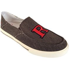 Men's Rutgers Scarlet Knights Drifter Slip-On Shoes, Size: 10, Brown