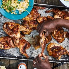 Grilled food doesn't have to be heavy.=—check out these healthy grilling ideas including grilled salads, chicken, and seafood recipes. Grilled Lemon Pepper Chicken, Best Grilled Chicken Recipe, Grilled Meat, Barbecue Recipes, Grilling Recipes, Grilling Art, Outdoor Grilling, Cooking Recipes, Healthy Recipes