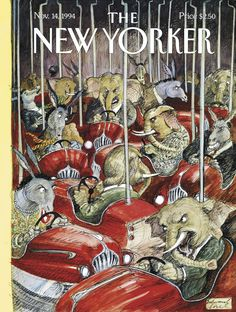 "The New Yorker - Monday, November 14, 1994 - Issue # 3634 - Vol. 70 - N° 36 - Cover ""The Arena"" by Edward Sorel"